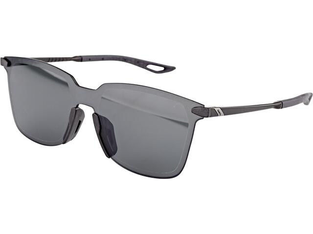 100% Legere UltraCarbon Square Glasses polished black/smoke